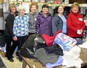 Volunteers at the Clothes Closet & Food Pantry