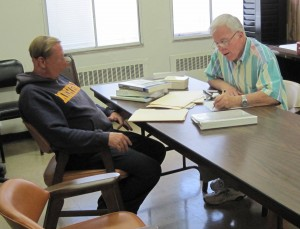 Robert Bunger (right) of the Christian Legal Aid Program