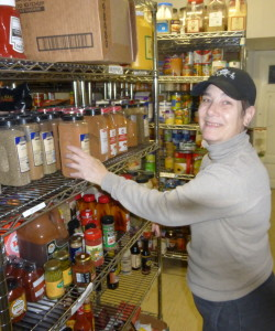 Robin in charge of the Stockroom