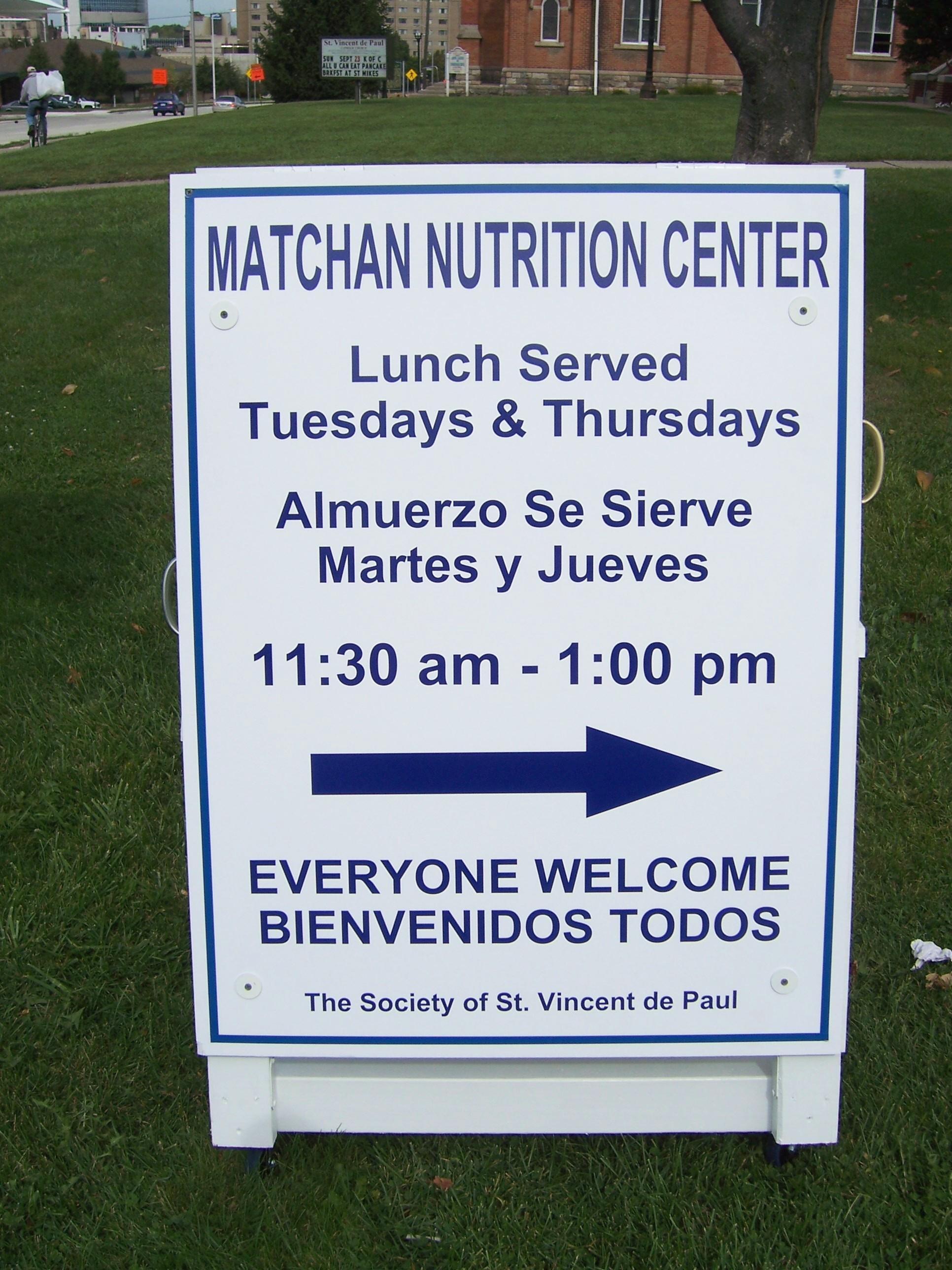 Sign outside of Matchan